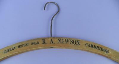 Vintage Advertising Coat Hanger R.A. Newson, Cherry Hinton Road, Cambridge