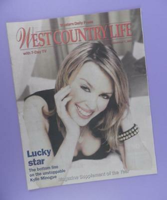 Kylie Minogue on Cover - West Country Life Magazine December 7th 2002