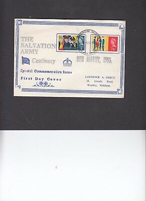 1965 Salvation Army Lawrence Grech unusual illustration First Day Cover. Rare