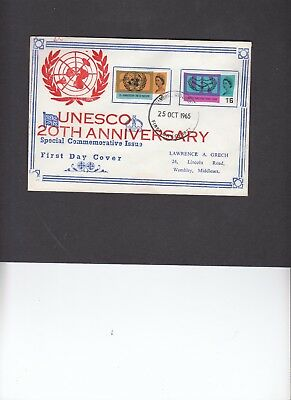 1965 United Nations Lawrence Grech unusual illustration First Day Cover. Rare
