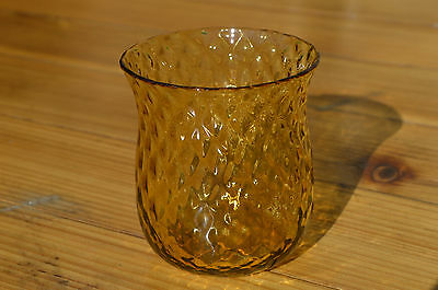 Lovely Amber Whitefriars / Webb Diamond Moulded Art Glass. Great Condition.