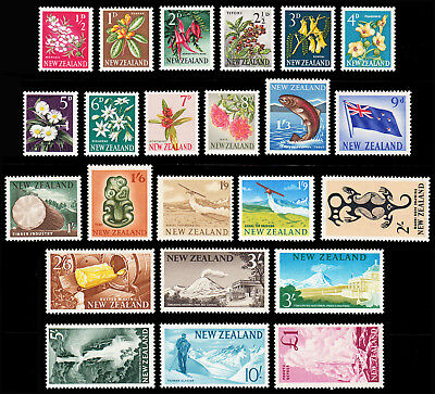 New Zealand 196-66 set of 23 superb mint never hinged SG 781/802 CV £55