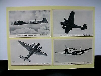 VALENTINE RECOGNITION CARDS - 4 old cards - Armstrong Whitworth, Lockheed-Vega &