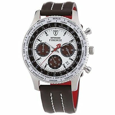 DETOMASO Men's Firenze Quartz Watch with Multicolour Dial Chronograph Display an