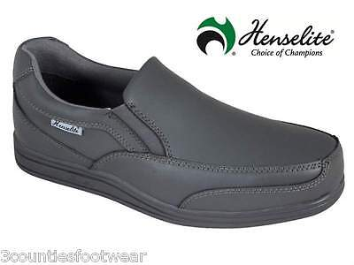 Henselite Victory Slip On Bowls Shoes - Grey