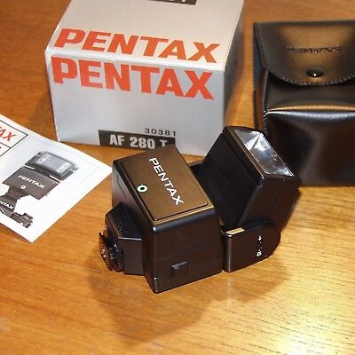 Pentax AF280T dedicated electronic flash unit BOXED with case & instructions