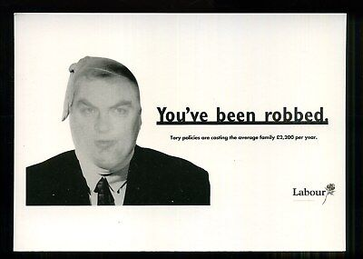 1992 Election Poster LABOUR PARTY You've been robbed LEEDS POSTCARDS Lamont
