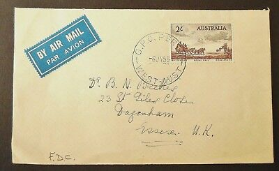 Australia QEII 1955 Pioneers Mail Coach -First Day Cover SG 285