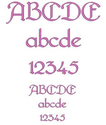 Machine Embroidery Font Design : BRIDGE NORTH, Fast & Free Emailing Worldwide