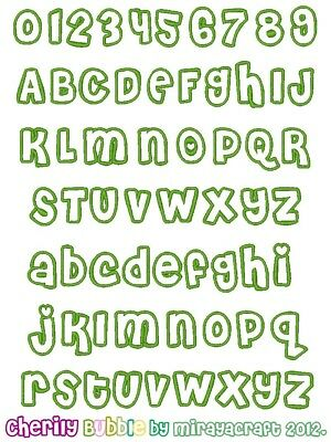 Machine Embroidery Design : CHERILY Bubble Font, Fast & Free Emailing Worldwide