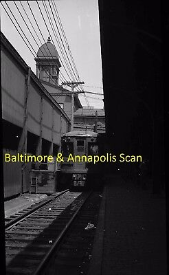 Baltimore & Annapolis Original B&w Trolley Negative Car 203 In Baltimore In 1942