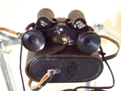 OLD SMALL RUSSIAN BNU4 4 x 20M BINOCULARS, CASE & STRAPS - Lovely Condition!