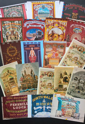 TRADE UNION BANNERS Modern Postcards x19