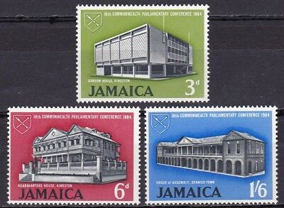 JAMAICA #236-238 MH 10th COMMONWEALTH PARLIAMENTARY CONF. (GOVERNMENT BUILDINGS)
