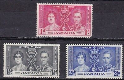 Jamaica #113-115 Mh 1937 Coronation Of King George Vi & Queen Elizabeth