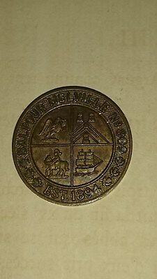 Old Scottish Masonic Token/Coin 1894 They Received Every Man a Penny
