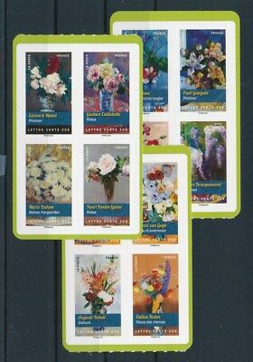 [92785] France Flowers good set Very Fine Adhesive stamps