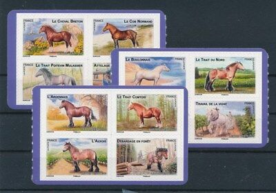 [92789] France Horses good set Very Fine Adhesive stamps