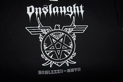 Onslaught T Shirt XL - Angels Of Death, Thrash, Exodus, Overkill, Anthrax