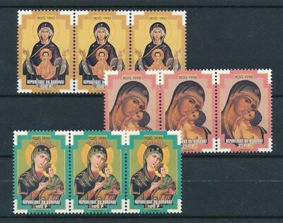 [93016] Burundi 1997 Christmas 3x good set Very Fine MNH stamps