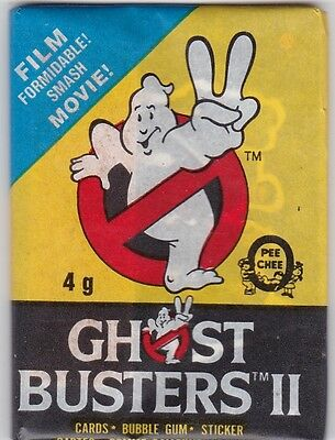 Vintage O PEE CHEE GHOST BUSTERS 2   ONE Sealed/Unopened Wax Pack 1989