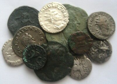 START 1 $ VERY INTERESTING LOT of 11 ROME IMPERIAL & REPUBLIC COINS with Silver