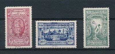[93430] Costa Rica 1924 Olympics good set Very Fine MH stamps