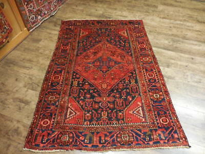 Ca1930 VGDY ANTIQUE PERSIAN KURDISH BIJAR VISS SERAPI 4.3x6.4 ESTATE SALE RUG