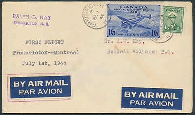 1944 AAMC #4405a Fredericton to Montreal First Flight