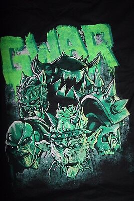 GWAR - 2011 Bloody Pit Tour Shirt - Oderus, Slipknot, Anthrax, Metallica