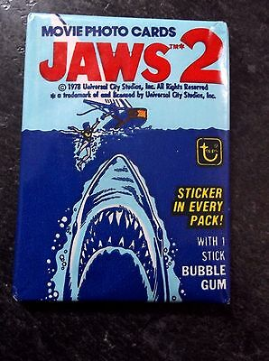Vintage Topps JAWS 2 Movie Photo Cards ONE Sealed/Unopened Wax Pack 1978