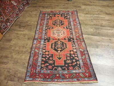 Ca1930 VGDY ANTIQUE PERSIAN HERIZ SERAPI VISS KARACHE 3.4x6.3 ESTATE SALE RUG