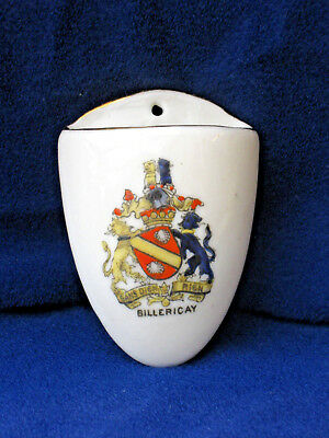 Arcadian Crested China Wall Pocket - Billericay