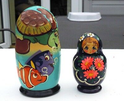 2 Sets Of Russian Dolls