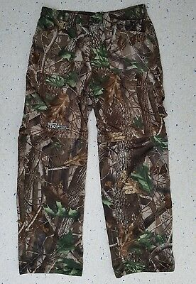 Shimano Tribal RealTree Wood Camo ZipOff Trouser Shorts Mens Large