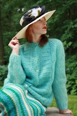 VINTAGE MOHAIR CARDIGAN with HANDKNIT MOHAIR SKIRT