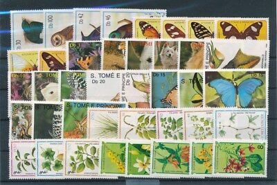[G91602] S. Tome and Principe Fauna/Flora good lot Very Fine MNH stamps