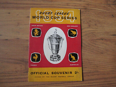 1954 Rugby League World Cup (Great Britain, New Zealand, France & Australia)