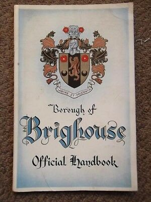 Borough of BRIGHOUSE Official Handbook  (1950's) West Yorkshire Local History