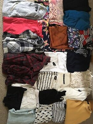 Job Lot CarBoot Bundle Clothes Women's New Look Top Shop Red Herring H&M Size 10