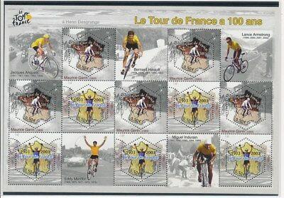 [G92108] France 2003 Cyclism good sheet Very Fine MNH