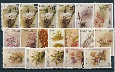 [G92233] Guyana Flowers good lot Very Fine MNH stamps