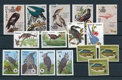 [G92242] Guyana Fauna good lot Very Fine MNH stamps