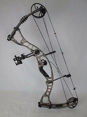 "USED Hoyt Maxxis 31 Compound Bow Right Hand 30"" 50-60# Camo Hunting"