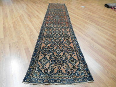 Ca1930s VGDY ANTIQUE PERSIAN LILIHAN MALLAYER SAROUK 2.5x12.2 ESTATE SALE RUG