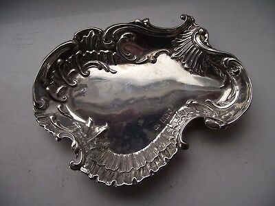 Antique 1901 Sterling Silver Hallmarked Great Shaped Trinket Ring Tray See Pics