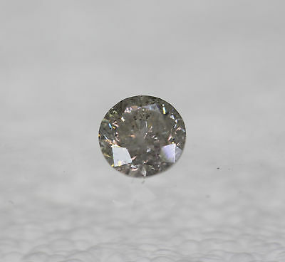 Certified 0.48 Carat I Color Round Brilliant Enhanced Natural Diamond 4.79mm