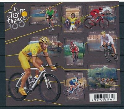 [G93199] France Cycling good sheet Very Fine MNH
