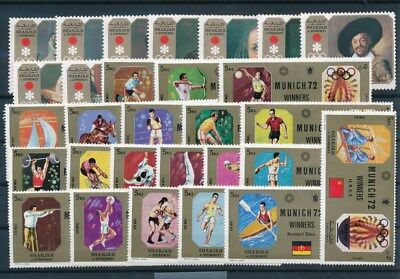 [G93237] Sharjah 1972 Olympics good imperforated lot Very Fine MNH stamps