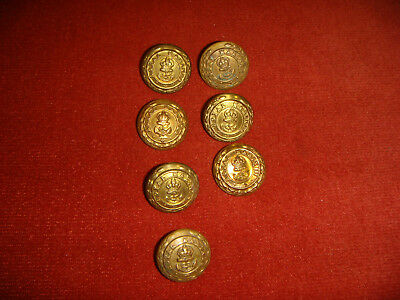 7 Vintage WW2 Royal Marines Buttons